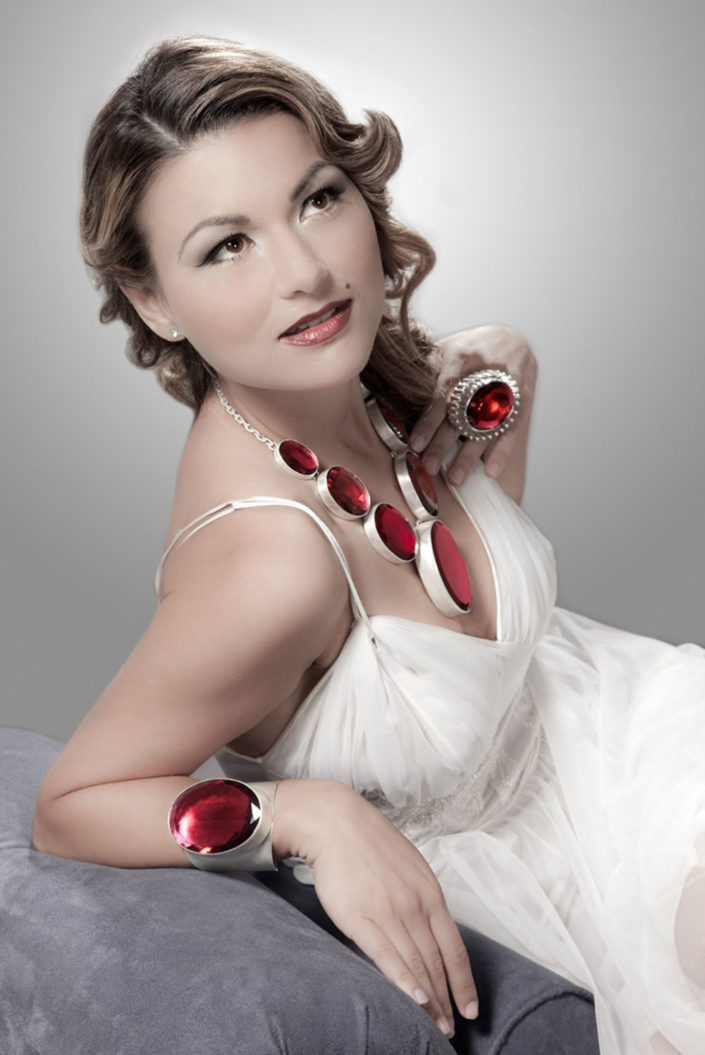 Photograph of model, Martina, wearing jewelry
